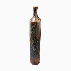 Flaschenförmige französische Keramikvase, 1960er