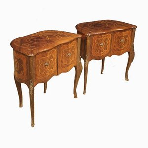 Rosewood Nightstands, 1950s, Set of 2