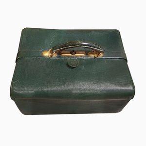 Vanity Case Antique en Cuir