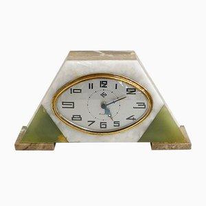 Reloj Art Déco vintage de mármol de DEP, años 30