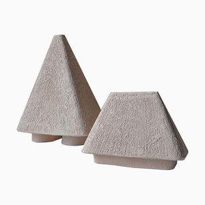 Geformte Keramikvasen von Victoria Yakusha, 2er Set