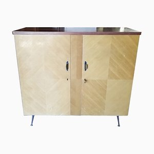 Birch & Metal Sideboard, 1950s
