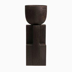 Copas de madera de iroco y roble de Arno Declercq. Juego de 2