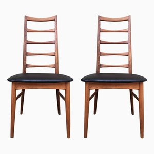 Danish Teak Dining Chairs by Niels Koefoed, 1960s, Set of 2