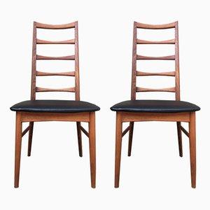 Danish Teak Dining Chairs by Niels Koefoed, 1960s, Set of 2