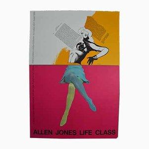 Vintage Farblithografie von Allen Jones, 1968