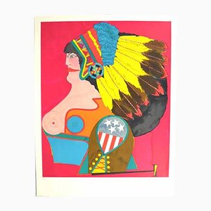 Vintage Print by Richard Lindner, 1976