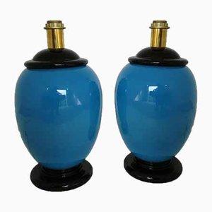 Vintage Tischlampen aus Keramik, 2er Set
