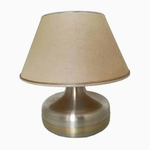 Mid-Century Tischlampe aus Metall & Messing
