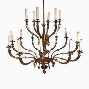 Lampada da soffitto Mid-Century in ottone