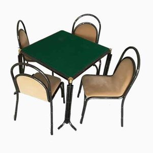 Dining Table & Chairs Set, 1950s, Set of 4