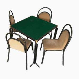 Set da pranzo e sedie, anni '50, set di 4