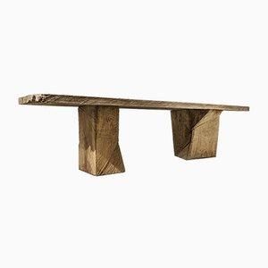 Sculpted Oakwood Table by Denis Milovanov