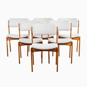 Model 49 Dining Chairs by Erik Buch for Oddense Maskinsnedkeri / O.D. Møbler, 1960s, Set of 6