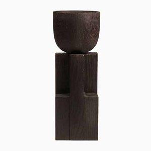 Iroko & Wood Goblet Vase by Arno Declercq