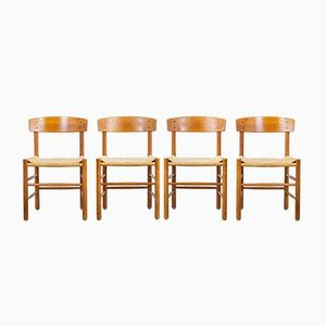 Model J39 Dining Chairs by Børge Mogensen for FDB, 1960s, Set of 4