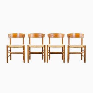 Modell J39 Esszimmerstühle von Børge Mogensen für FDB, 1960er, 4er Set