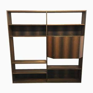 Scandinavian Modern Walnut Wall Unit, 1980s