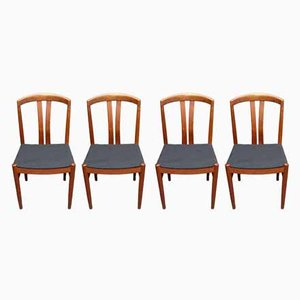 Scandinavian Modern Teak Dining Chairs by Johansson for Soner, 1950s, Set of 4