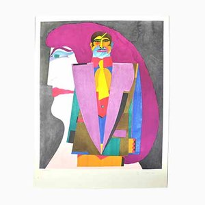 Vintage Print by Richard Lindner, 1970s