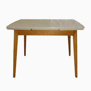 Tavolo da pranzo Mid-Century in legno e formica