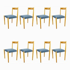 Stackable Dining Chairs, 1960s, Set of 8