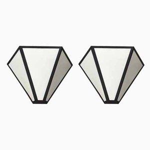 Weiße Wandleuchten aus Metall von Metalarte, 1980er, 2er Set