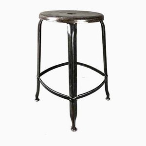 French Metal Stool by Paul Henry Nicolle for Usine Nicolle, 1950s