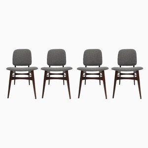 Niederländische Esszimmerstühle aus Teak von Louis van Teeffelen für WéBé, 1950er, 4er Set