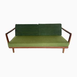 Danish Green Sofa Bed by Peter Hvidt & Orla Mølgaard-Nielsen for France & Søn/France & Daverkosen, 1960s