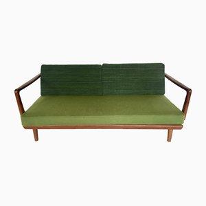 Sofá cama danés en verde de Peter Hvidt & Orla Mølgaard-Nielsen para France & Søn / France & Daverkosen, años 60