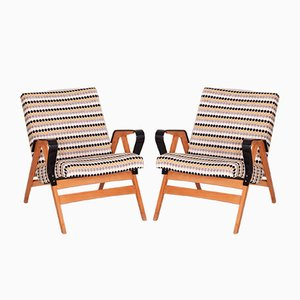 Mid-Century Armchairs from Tatra, 1950s, Set of 2