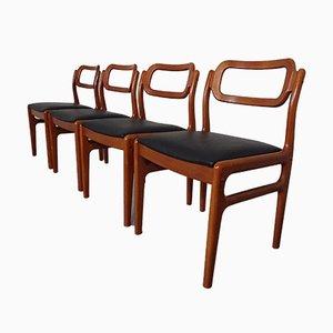 Dänische Esszimmerstühle aus Teak von Uldum Møbelfabrik, 1960er, 4er Set