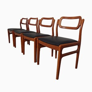 Danish Teak Dining Chairs from Uldum Møbelfabrik, 1960s, Set of 4