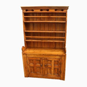 Antique Irish Pine Wood Dresser, 1850s