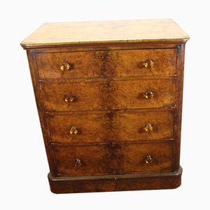 Antique Burr Walnut Dresser, 1880s