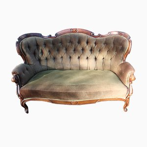 Antique Louis XV Style Mahogany 3-Seater Sofa, 1900s