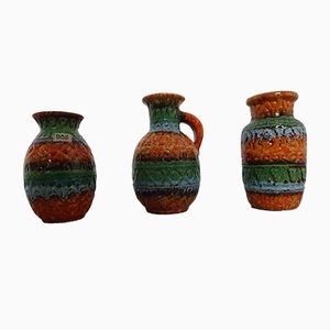 Ceramic Vases by Bodo Mans for Bay Keramik, 1960s, Set of 3