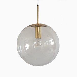 Large Vintage Globe Pendant Lamp from Glashuette Limburg