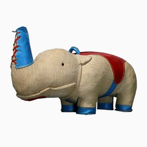 Vintage Nossy Rhinoceros Therapeutic Toy by Renate Müller for H. Josef Leven KG, 1970s