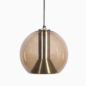 Lámpara colgante serie Globe de vidrio de Franck Ligtelijn para Raak, años 60