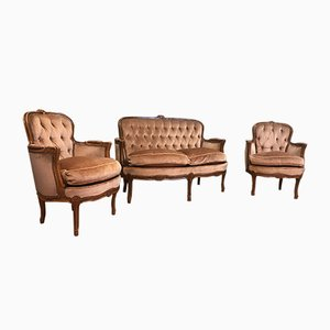 Mid-Century Living Room Set, Set of 3