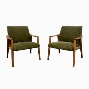 Armlehnstühle aus Buche, 1960er, 2er Set