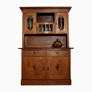 Art Nouveau Oak Sideboard Buffet