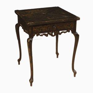 Tavolo da gioco laccato e dipinto, anni '20