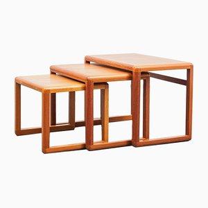 Tables Gigognes en Teck de Dyrlund, 1970s
