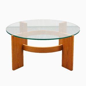 Table Basse en Teck et Verre, 1970s
