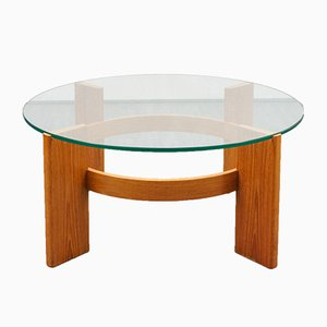 Teak and Glass Coffee Table, 1970s