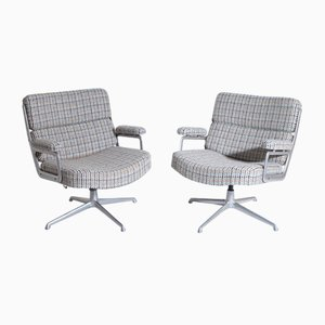 Mid-Century Swivel Chairs, 1950s, Set of 2