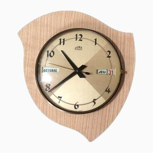 French Model Transistor Pendulum Formica Clock from Jura, 1960s